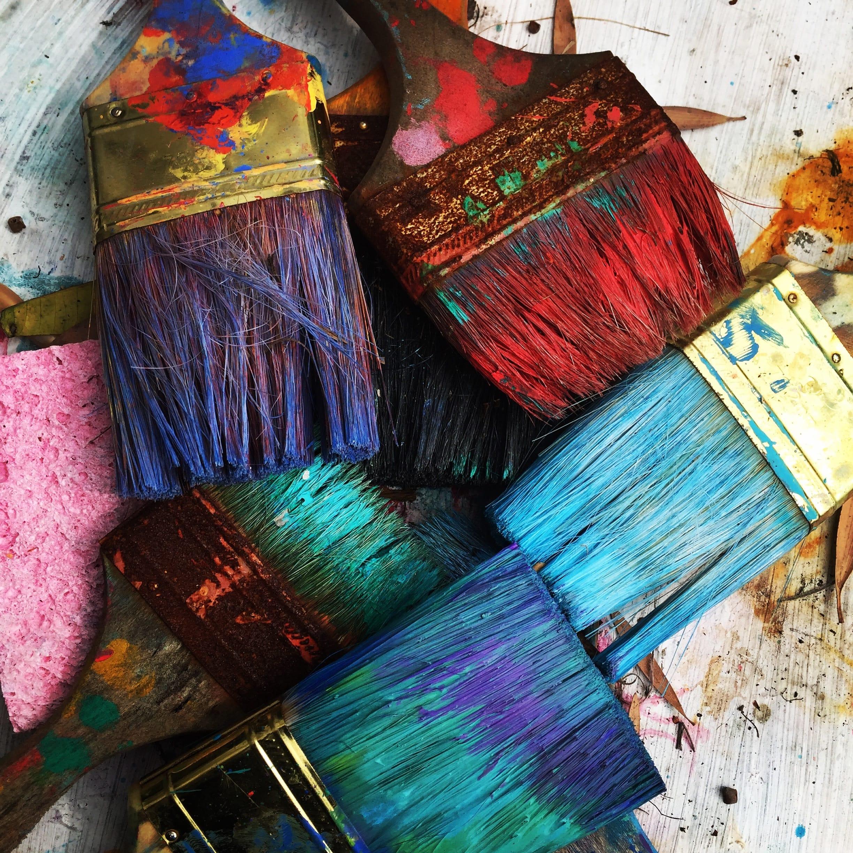 Multicolored Paintbrushes