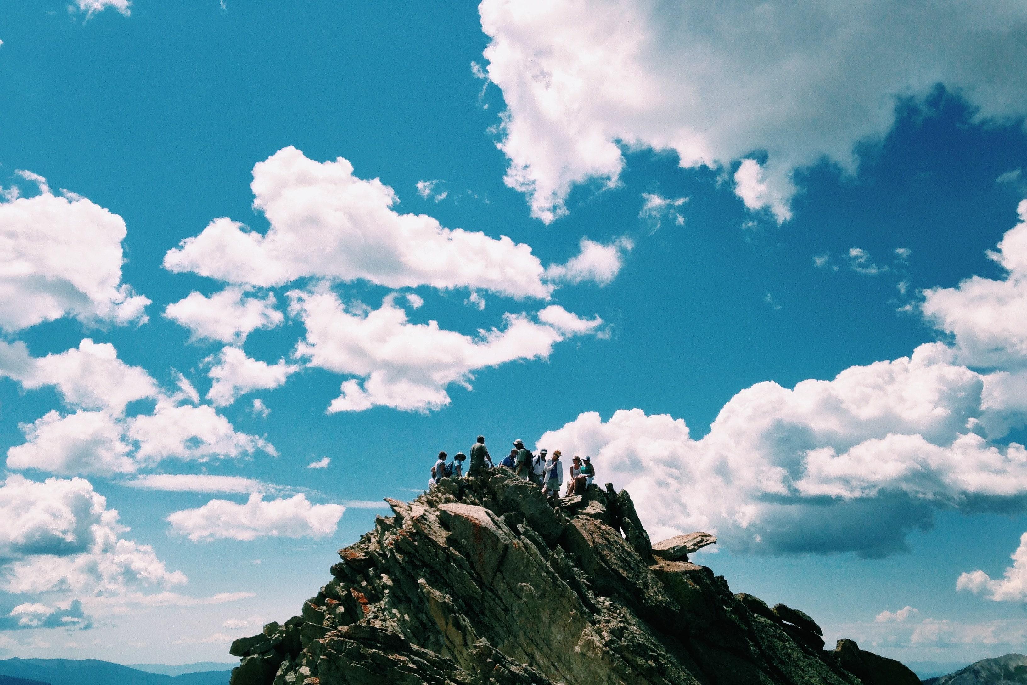 Group Gathering on Rocks