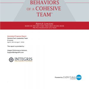 The Five Behaviors of a Cohesive Team Assessment