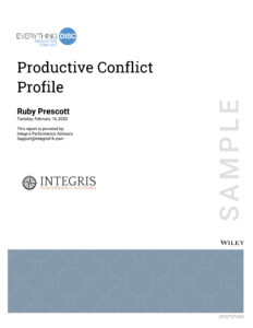 DiSC Productive Conflict Cover