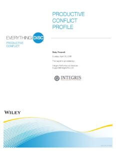 Everything DiSC® Productive Conflict Assessment