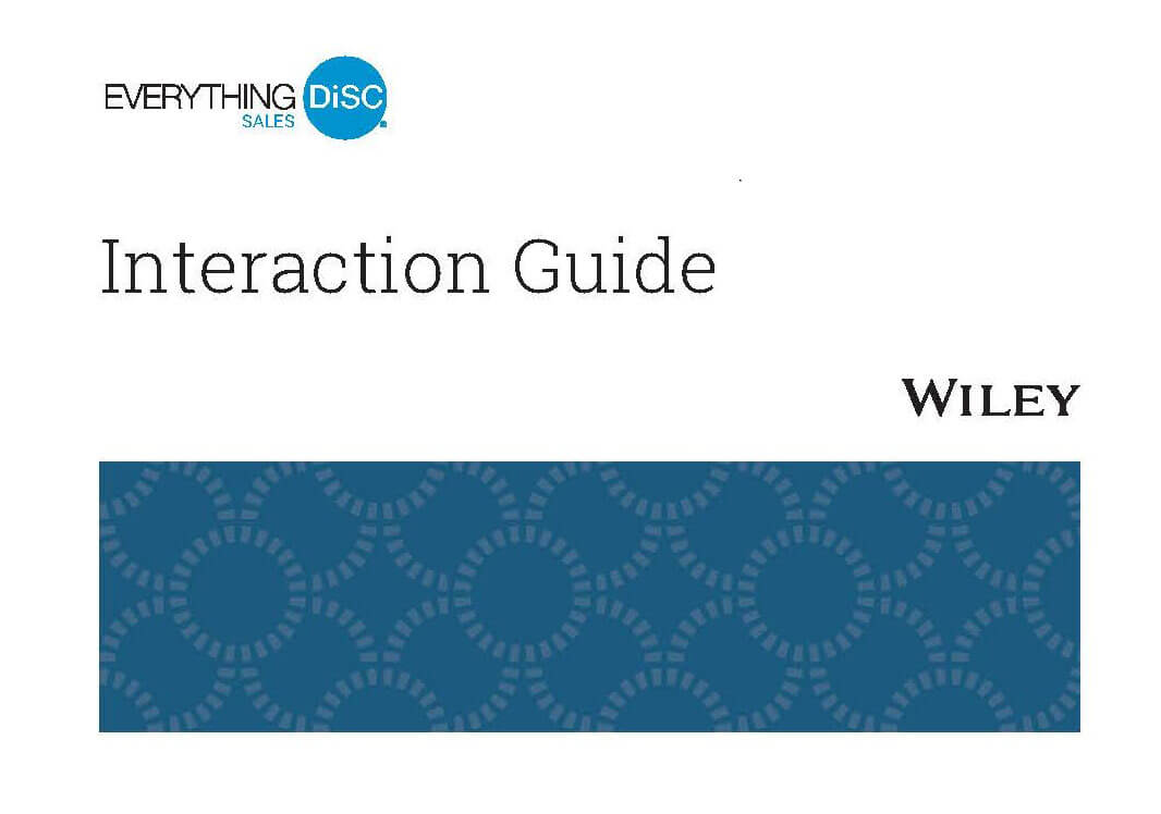 Everything DiSC Sales Interaction Guide