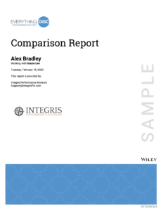 DiSC Comparison Report Cover