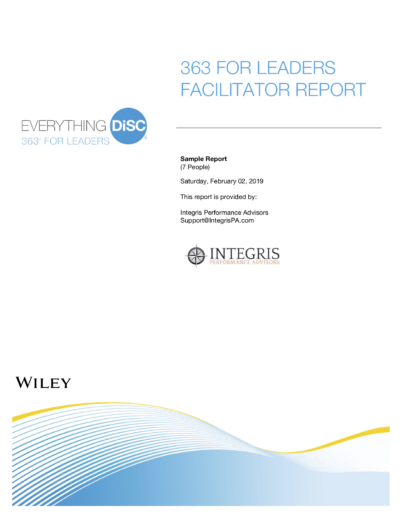 363 Facilitator Report Cover