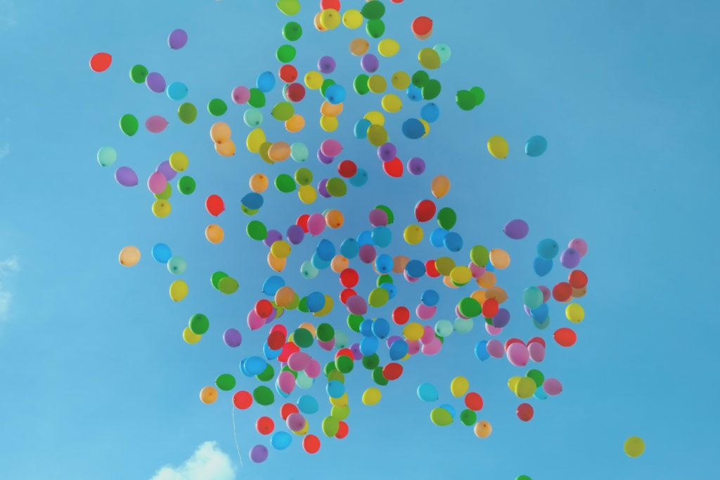 Balloons Against a Blue Sky
