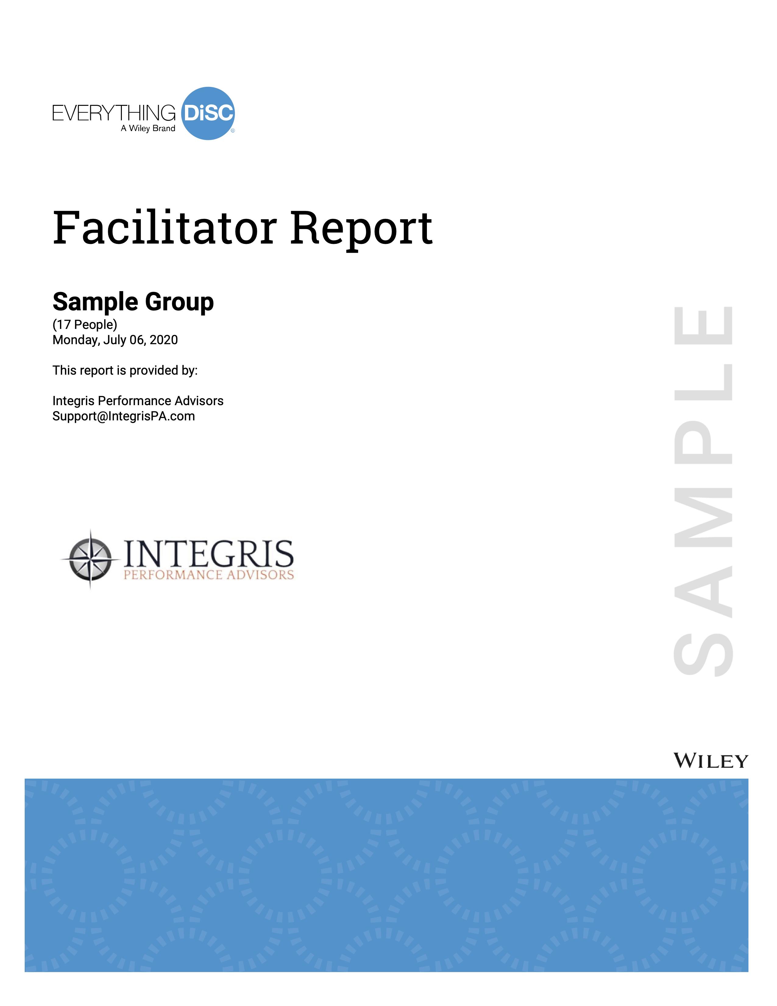 ED Facilitator Report Cover