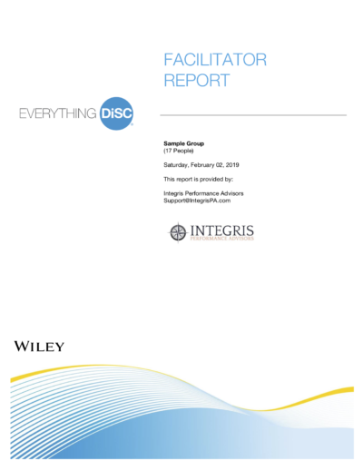Facilitator Report Cover