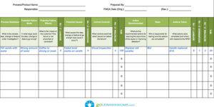FMEA screenshot