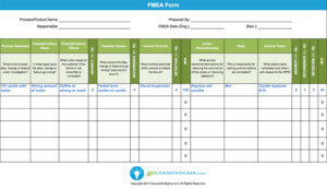 FMEA screenshot