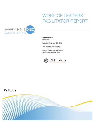 WOL Facilitator Report Cover