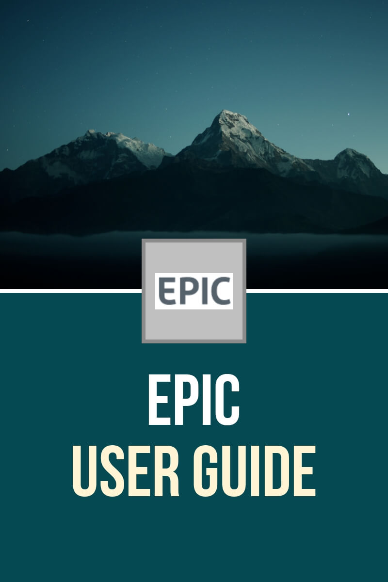 EPIC User Guide