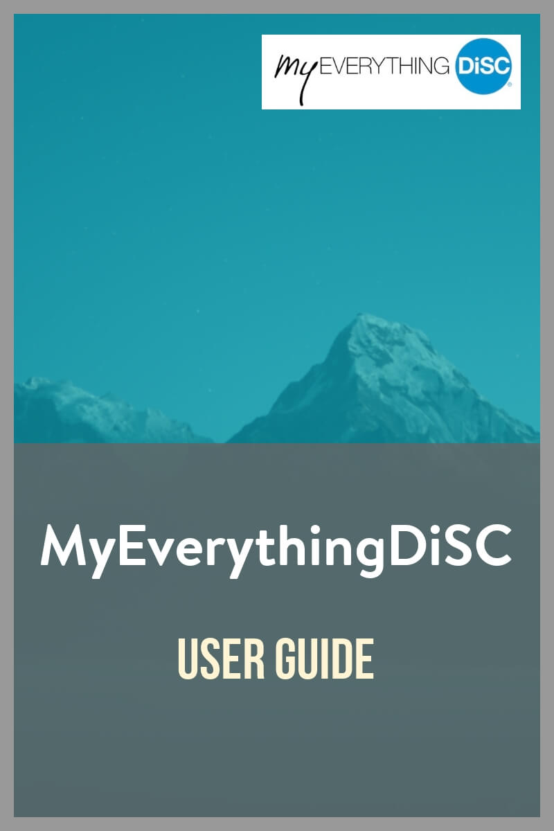 MyEverythingDiSC User Guide